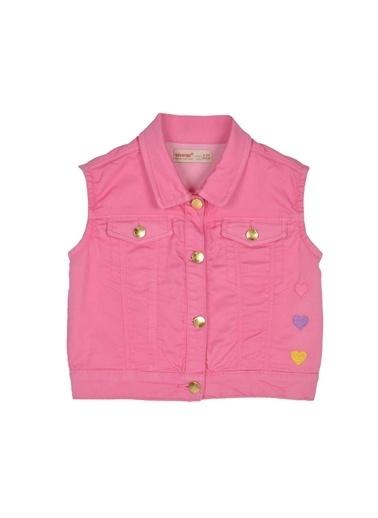 Silversun Kids Kız Çocuk Kalp Işlemeli Kolsuz Ceket Yc 216040 Pembe